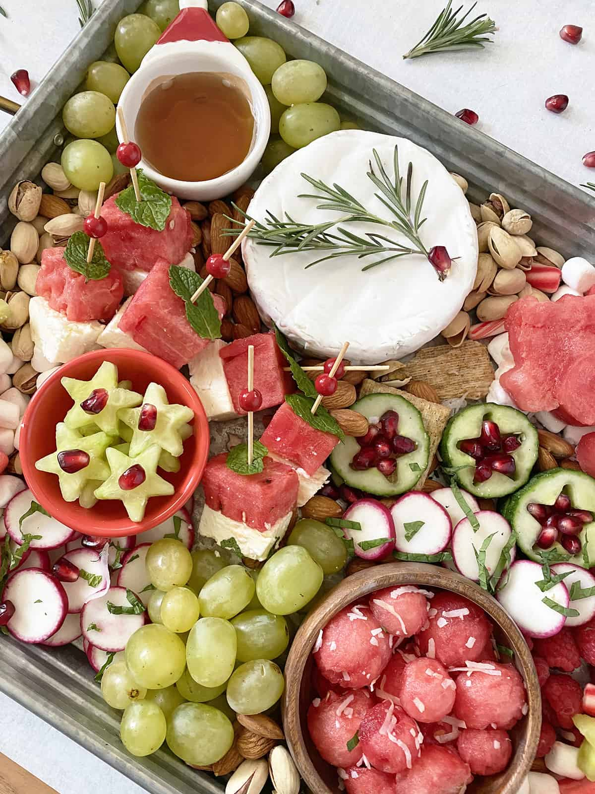 watermelon snack board for the holidays