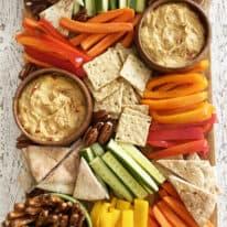 Hummus Snack Board