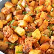 Plant-Based Sausage & Potato Skillet