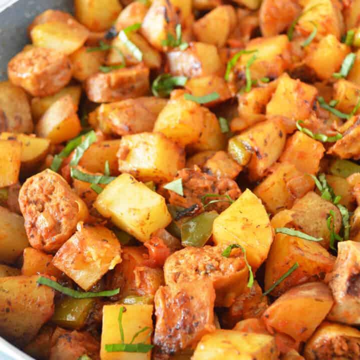 Plant-Based Sausage & Potato Skillet
