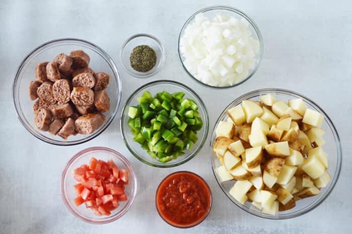plant based sausage & Potato Skillet ingredients
