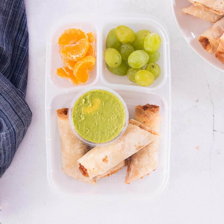 BBQ Chicken Taquitos Lunchbox