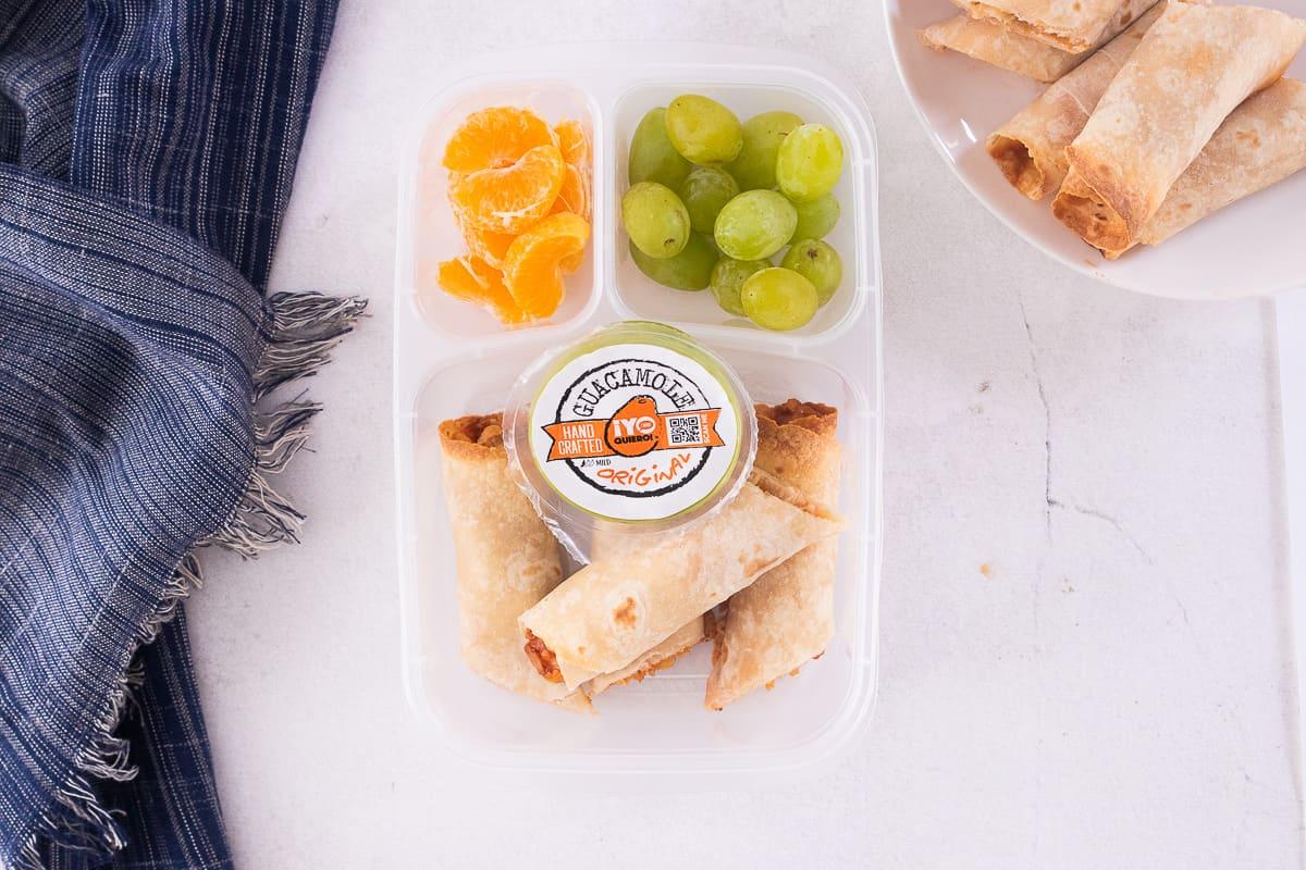 BBQ Chicken Taquitos Lunchbox Idea