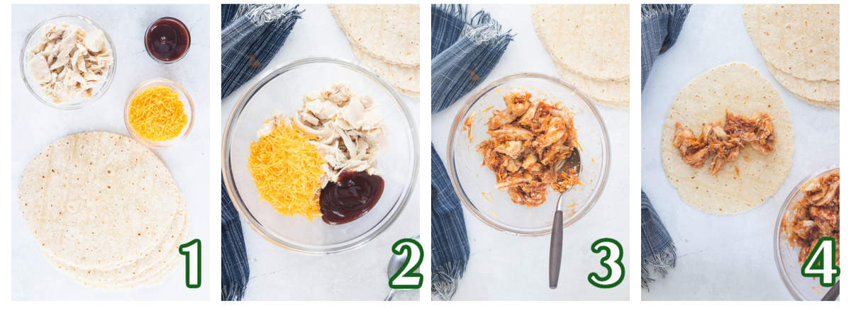 How to make BBQ Chicken Taquitos for lunches