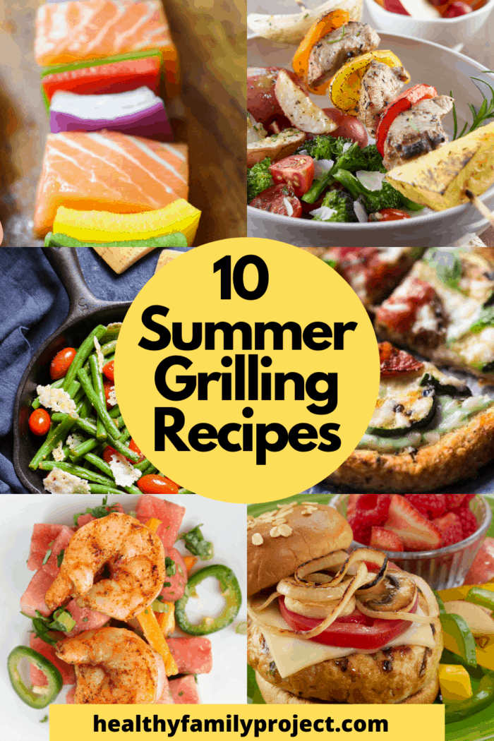 10 Summer Grilling Recipes to Add to your rotation pinterest collage