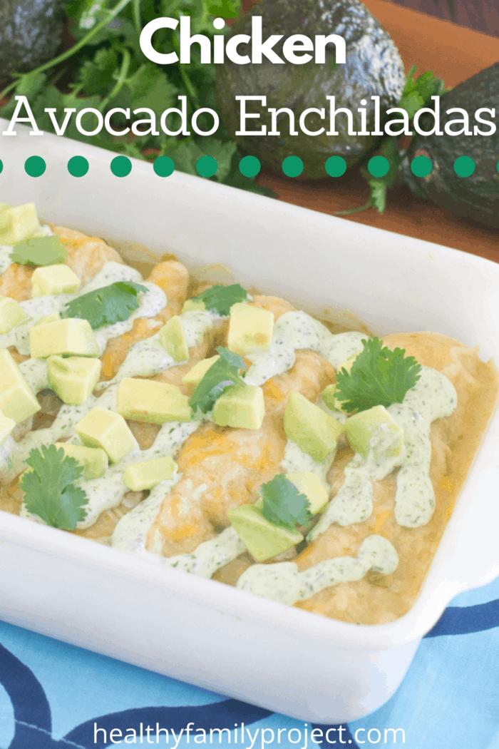 Chicken Avocado Enchiladas Pinterest Image
