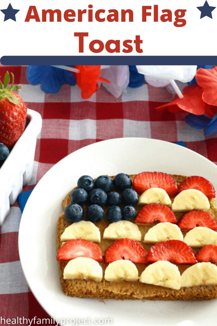 American Flag Toast Pinterest Image