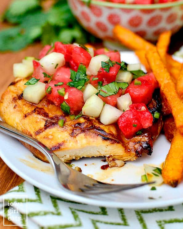 10 summer grilling recipes to add to your rotation grilled chicken with cucumber watermelon salad recipe