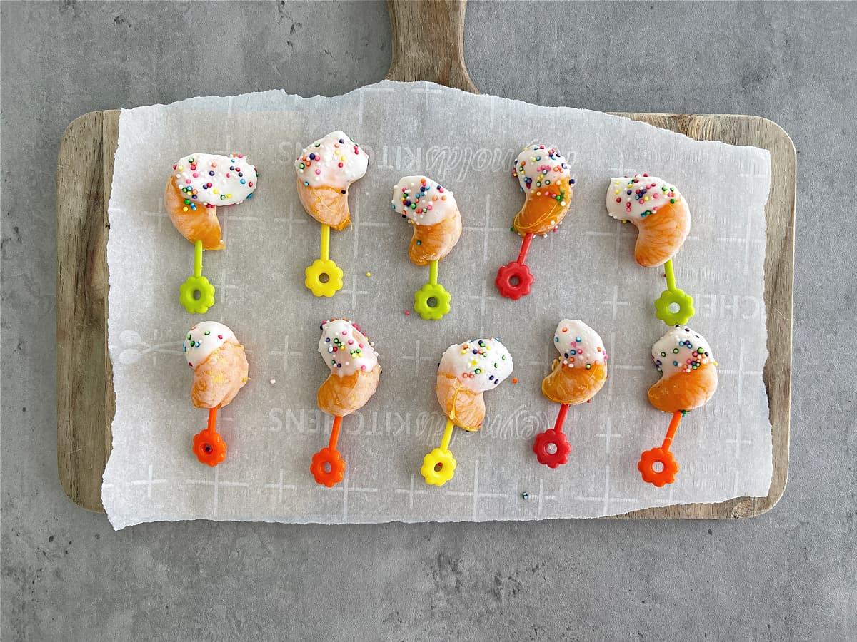 Easy Frozen Creamsicle Yogurt Bites