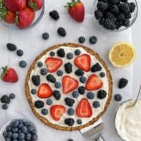 Mixed Berry Pizza with Oatmeal Coconut Crust