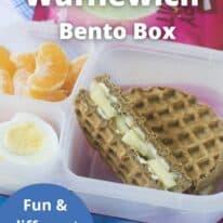 breakfast wafflewich bento box pinterest image