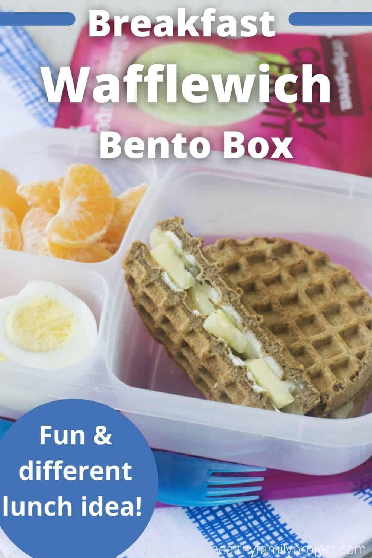 healthy breakfast wafflewich bento box