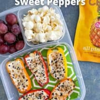 everything bagel cheese stuffed mini peppers pin
