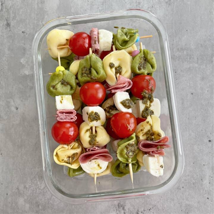 Pesto Antipasti Tortellini Skewers