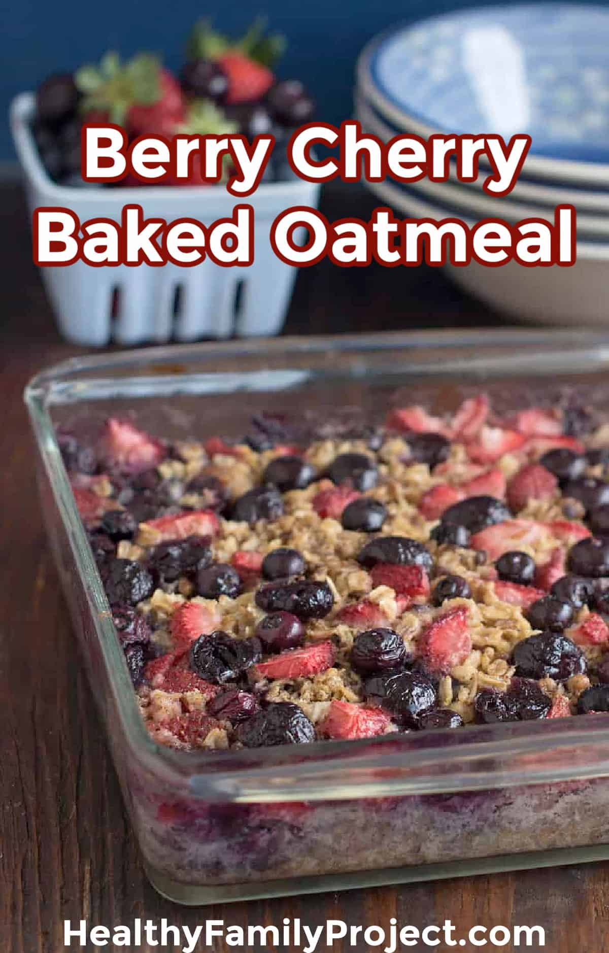 Best Baked Oatmeal with fresh berries