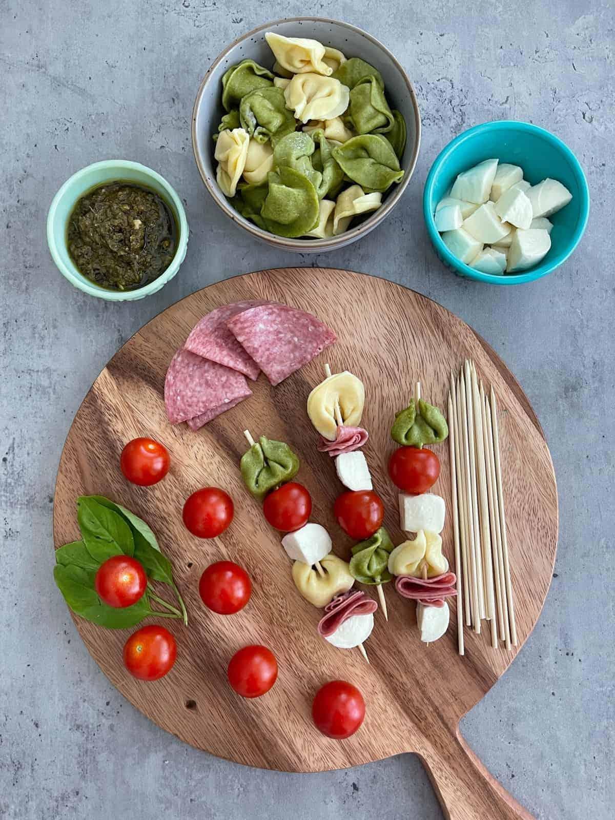 Best Antipasti Tortellini Skewers