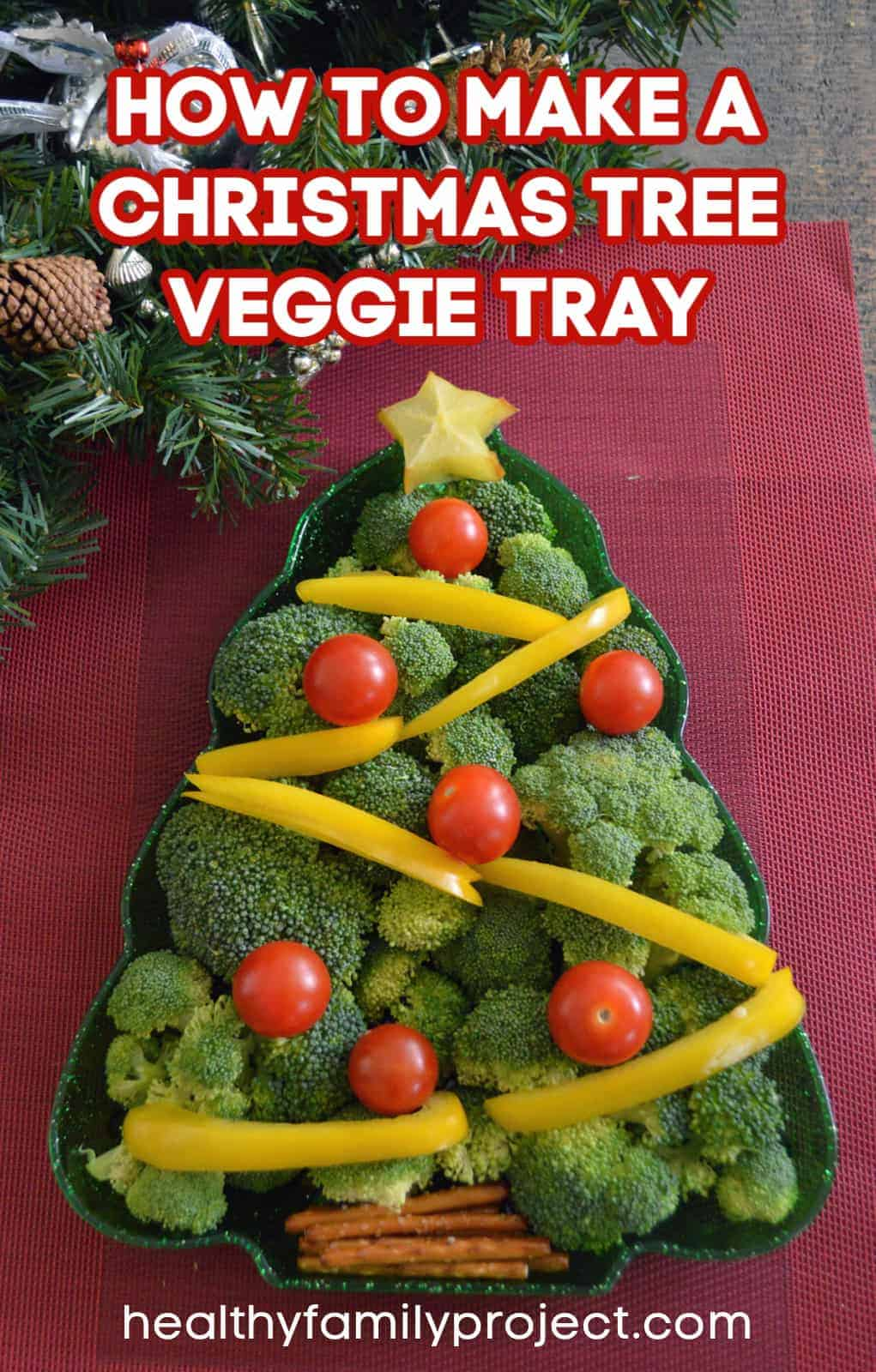 How To Make A Christmas Tree Veggie Tray