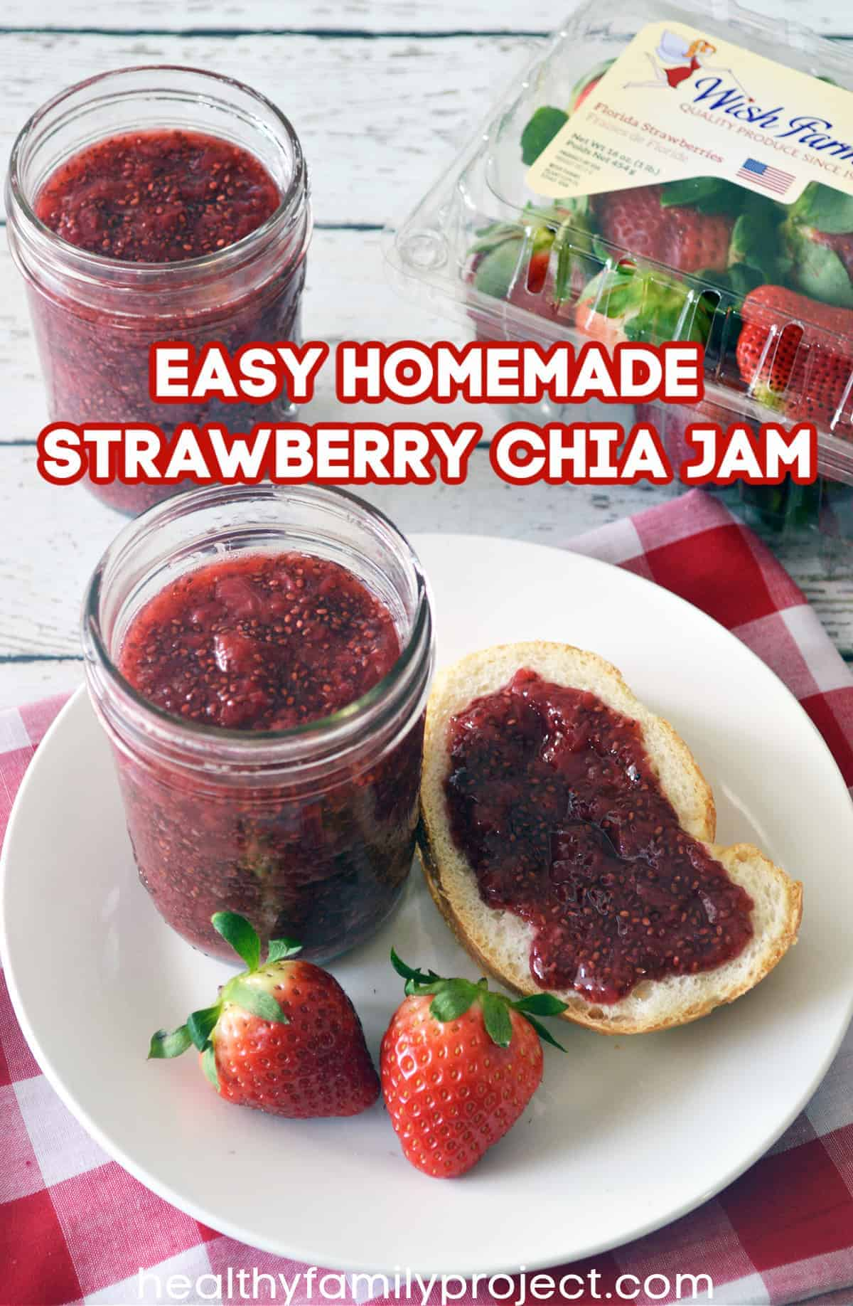 Homemade Strawberry Chia Jam
