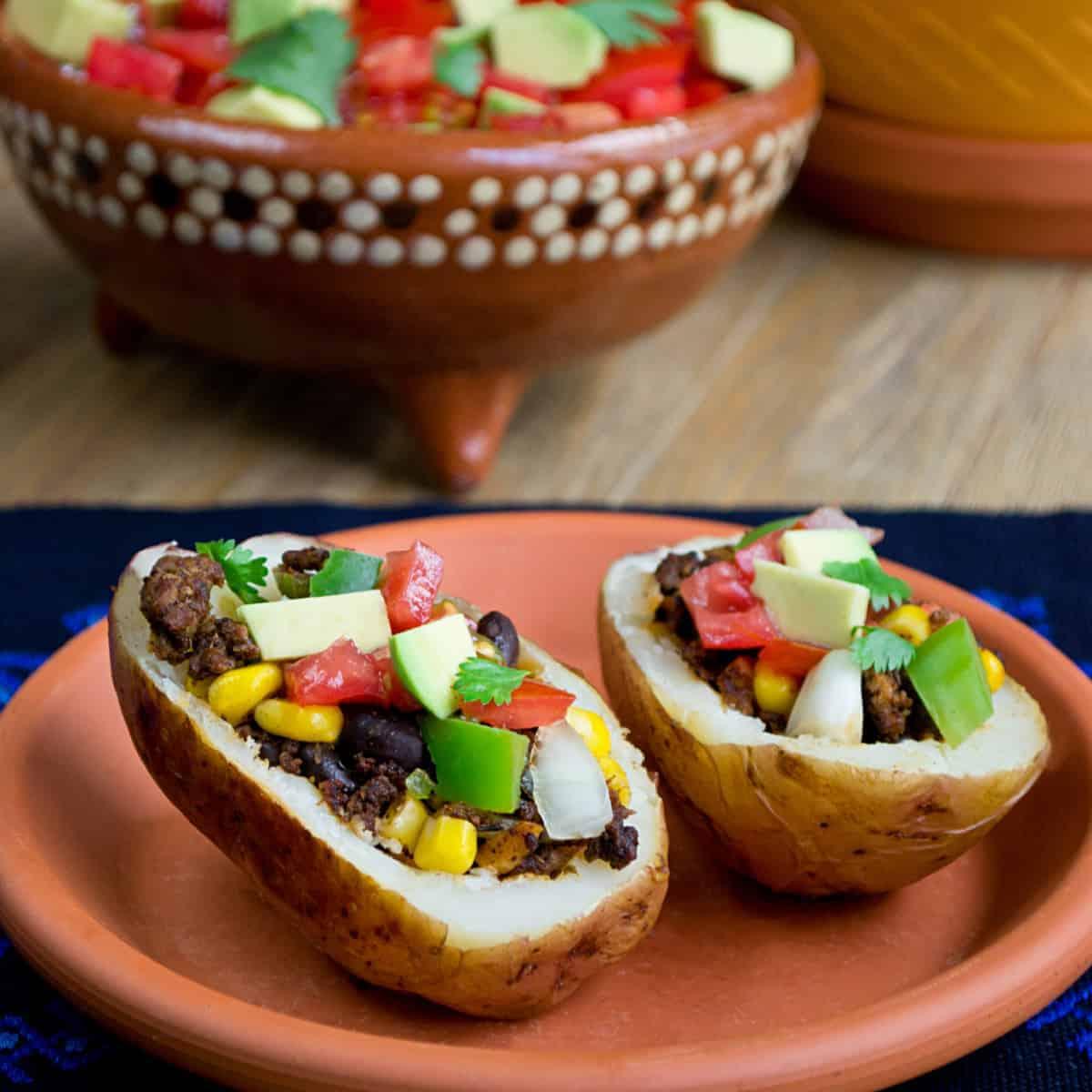 Taco Baked Potatoes