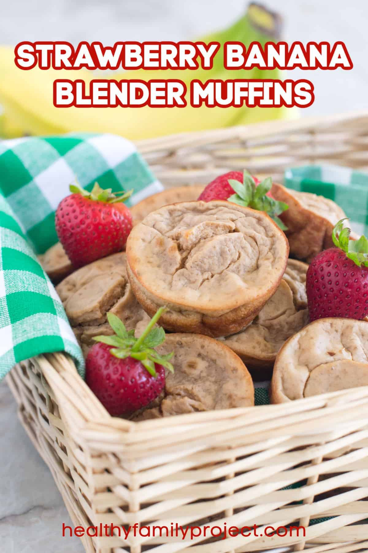 How To Make Strawberry Banana Blender Muffins