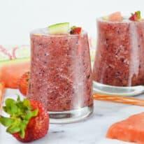 Strawberry Watermelon Fruit Slushies